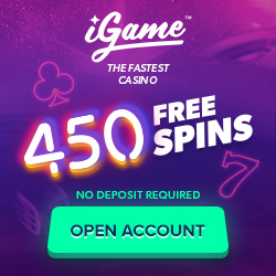 iGame.com - Exclusive 450 Free Spins